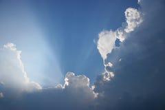 Dramatische horizontale wolken, Royalty-vrije Stock Afbeeldingen