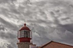 Dramatische mening de slinger op de achtergrond van wolken Stock Foto's
