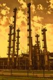 Dramatische mening van chemisch gecombineerd stock foto