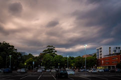 Dramatische onweerswolken Stock Foto's