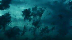 Dramatische Onweerswolken (donkere cinematic) stock videobeelden