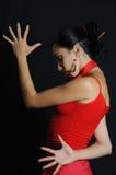Dramatische Spaanse danser stock afbeelding