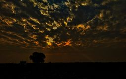 Dramatische Wolken stock foto's