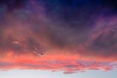 Dramatische Wolken Royalty-vrije Stock Foto
