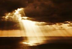 Dramatische zonsondergang Royalty-vrije Stock Afbeelding