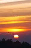 Dramatische zonsondergang Royalty-vrije Stock Afbeeldingen