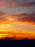 Dramatische Zonsondergang Stock Afbeeldingen