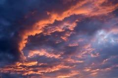Dramatische hemel Stock Afbeeldingen