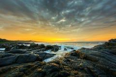 Dramatische zonsopgang, Zuid-Afrika stock foto's