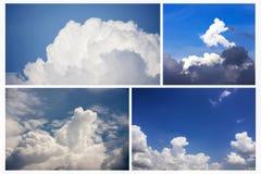 Dramatisk atmosfär av blå himmel för friskhet och molnbakgrunder Fotografering för Bildbyråer