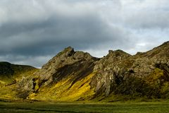 dramatisk bergsky Fotografering för Bildbyråer