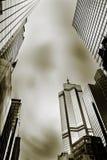 dramatisk cityscape Royaltyfri Fotografi