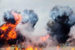 Dramatisk explosion Royaltyfri Foto