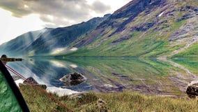 Dramatisk fjord Norge Fotografering för Bildbyråer