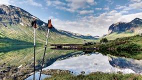 Dramatisk fjord Norge Arkivbilder