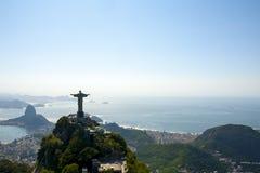 Dramatisk flyg- sikt av Rio De Janeiro Arkivbild