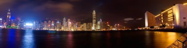 dramatisk hamn panorama- victoria Arkivfoto