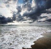 dramatisk havsky Fotografering för Bildbyråer