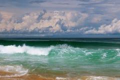 Dramatisk havsstorm Arkivfoto