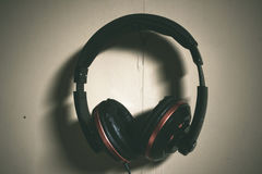 Dramatisk headphone Royaltyfri Foto