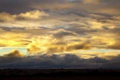 Dramatisk himmel Arkivfoto