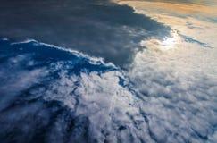Dramatisk himmel från över Fotografering för Bildbyråer