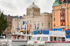 dramatisk kunglig stockholm teatersikt Royaltyfria Foton