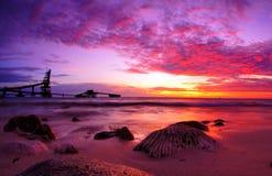 Dramatisk scenisk solnedgång arkivbilder