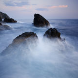 dramatisk seascape royaltyfri bild