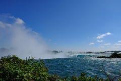 Dramatisk sikt av det berömda Niagaraet Falls, i Ontario, Kanada royaltyfri bild