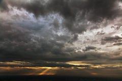 dramatisk sky Royaltyfri Fotografi