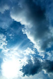 dramatisk sky Arkivfoto