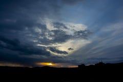 dramatisk sky Arkivbilder