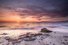dramatisk solnedgång Arkivbild