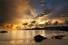 dramatisk solnedgång Royaltyfri Bild