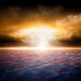 Dramatisk solnedgång Royaltyfria Foton