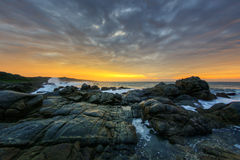 Dramatisk soluppgång, Sydafrika royaltyfri fotografi