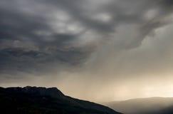 Dramatisk storm Arkivbild