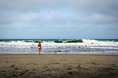 Dramatisk strand Arkivbild