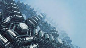 Dramatisk tapet för abstrakt begrepp 3D royaltyfri illustrationer