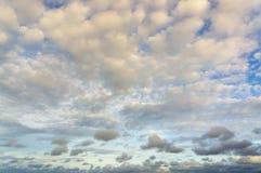 Dramatiska fluffiga moln Royaltyfri Fotografi