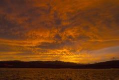 Dramatiska himlar i den skotska Skotska högländerna Royaltyfria Foton