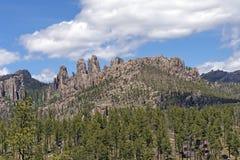 Dramatiskt berg Ridge i Blacket Hills royaltyfria foton