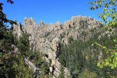 Dramatiskt berg Ridge i Custer State Park, South Dakota royaltyfria foton