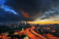 Kuala Lumpur cityscape Arkivbilder