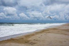 Dramatiskt himmel och hav Arkivfoto