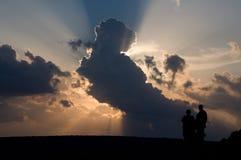 dramatiskt over hav för cloudscape Royaltyfri Fotografi