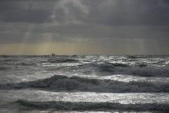 Dramatitic backlit morze Obraz Stock