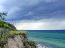 Dramatyczna burza na oceanie Fotografia Stock