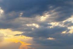 Dramatyczna burzowa chmura Obrazy Royalty Free